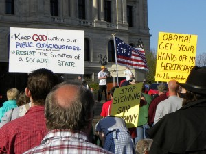 Tea Party protestors